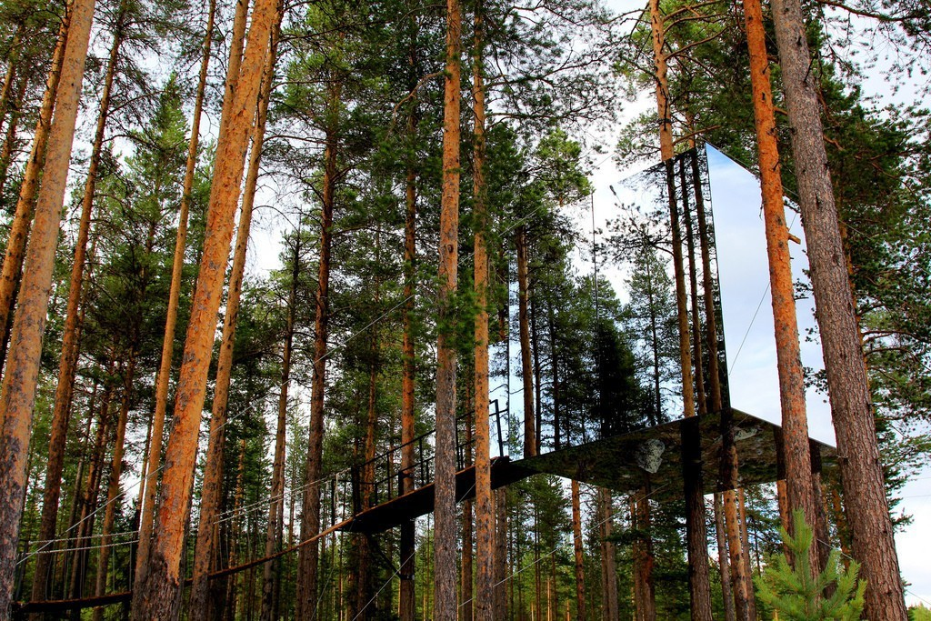 Mirror Tree house in Sweden