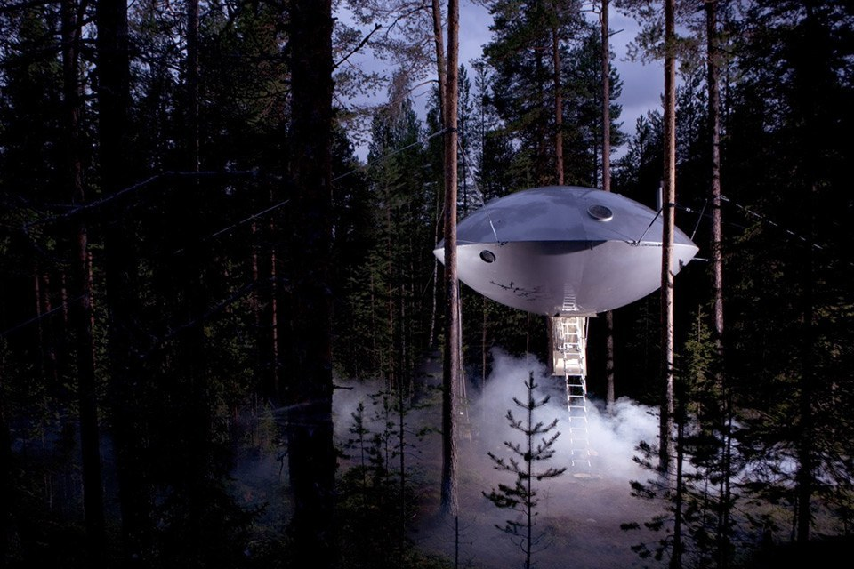 UFO Tree house in Sweden