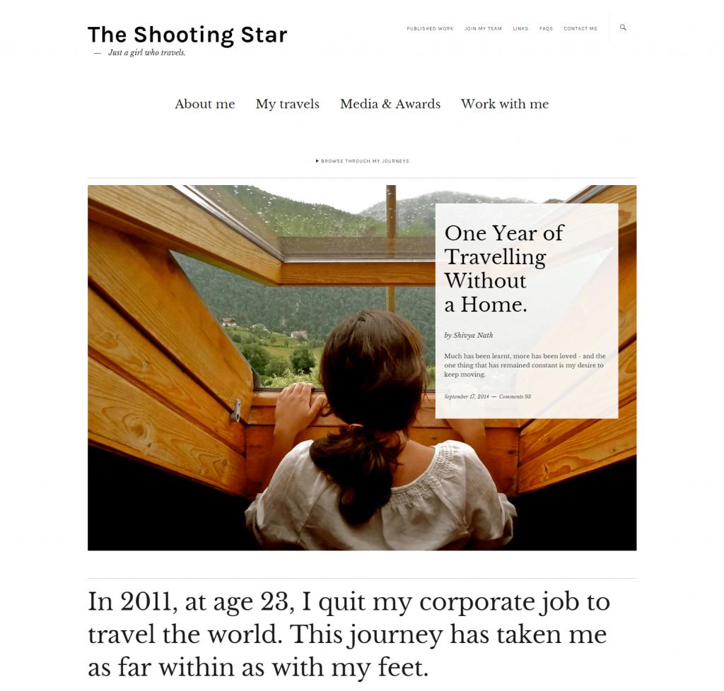 The Shooting Star by Shivya Nath