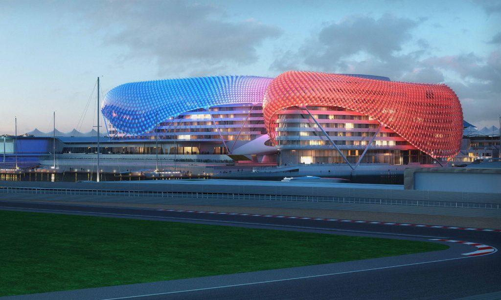 Yas Marina Circuit at Sunset