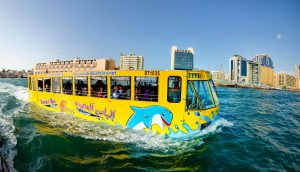 water bus tour at Dubai Marina