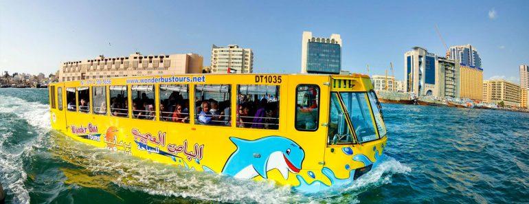 water bus tour at Dubai Marina