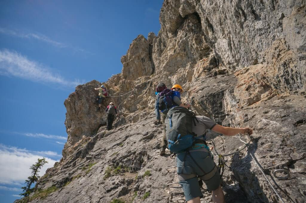 Mountain Climbing Via Ferrata