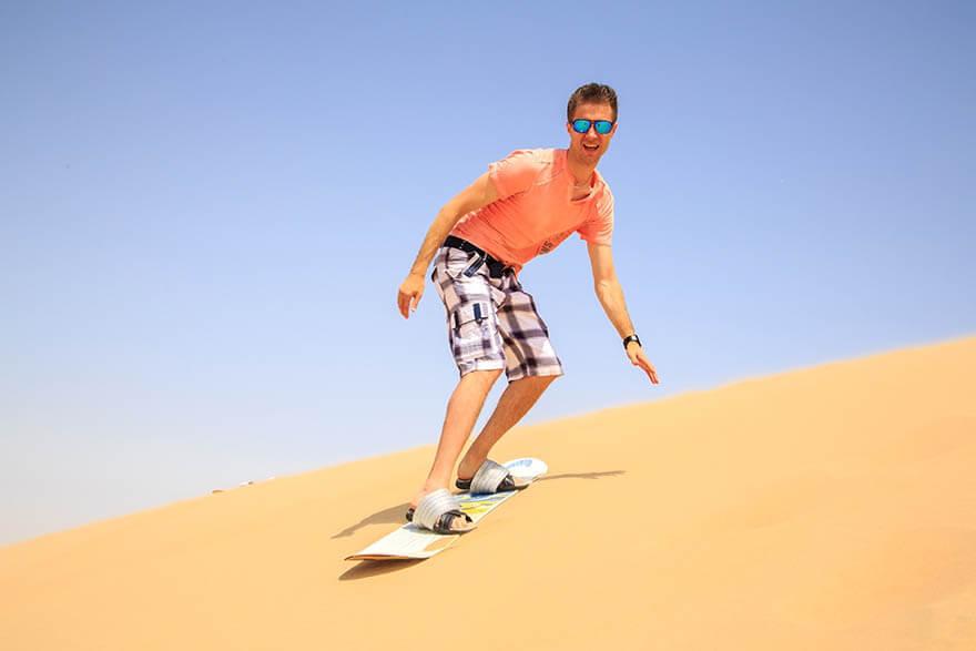Sand Boarding in Desert