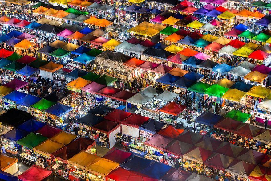 Cities Colorful Market, Bangkok, Thailand