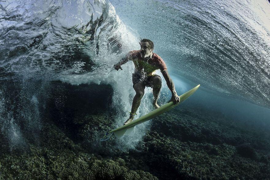 People Under The Wave, Tavarua, Fiji